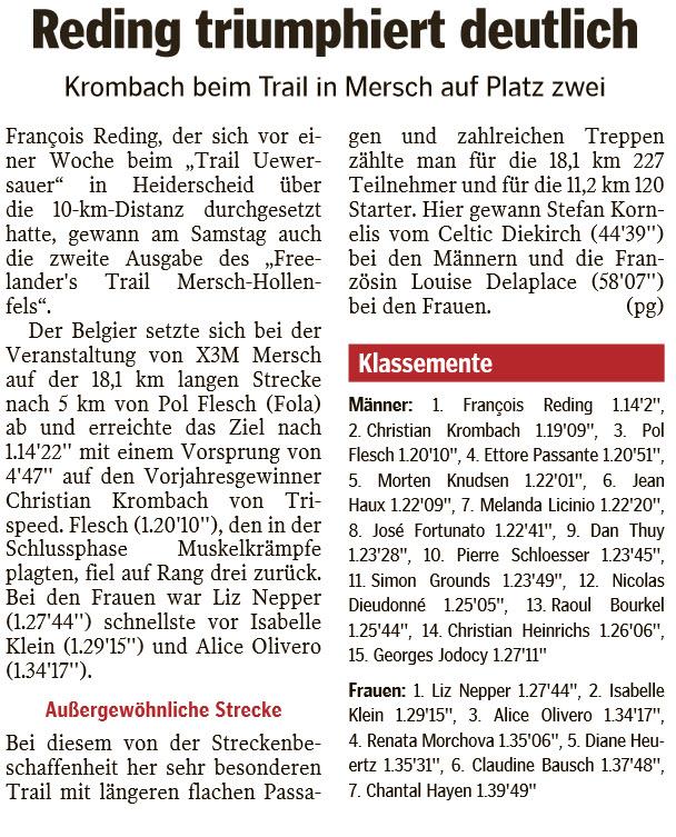 PRESS RELEASE - Luxemburger Wort